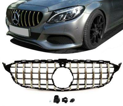 Mercedes-benz C Klass W205 Grill AMG GT GOLD
