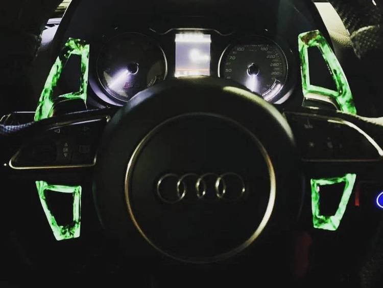 Neon paddlar kolfiber grön - RS6 Performance