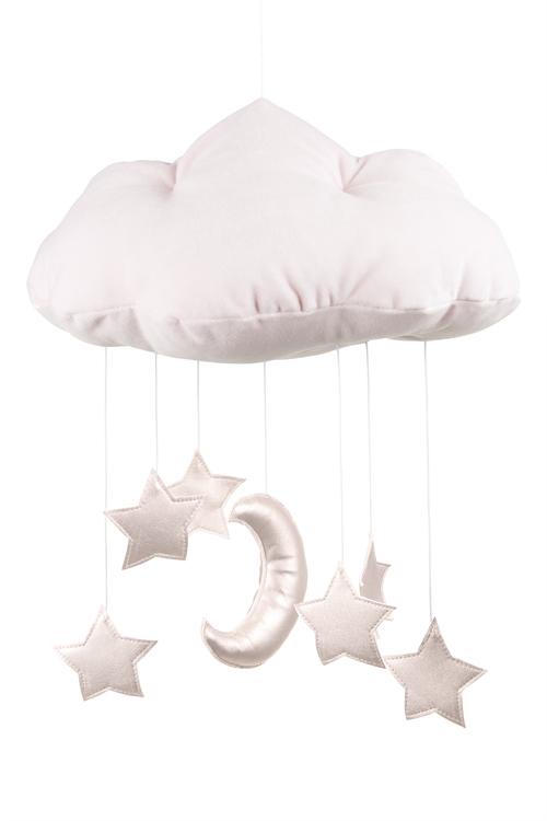 Mobil av rosa moln med rosastjärnor