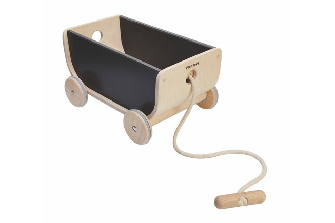 Solid trävagn från Plan Toys