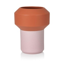 Fumario Orange and Pink Vase