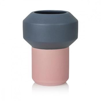 Fumario Vase Dark Grey & Pink