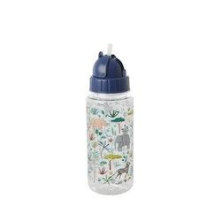 Rice Plastic kids drikke flaske m jungle animals print