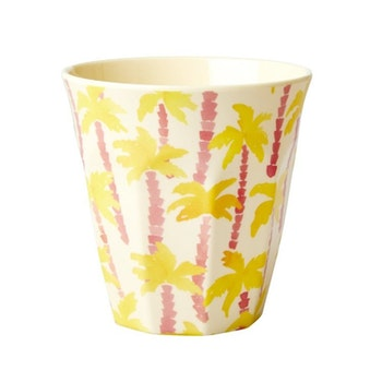 Rice Melamine cup/ glass m palm tree medium