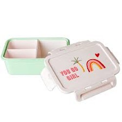 Rice Lunch box w 3  insets- you go girl