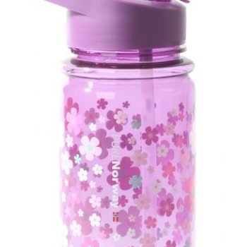 Pure Norway drikkeFlaske 420ml blomster lilla