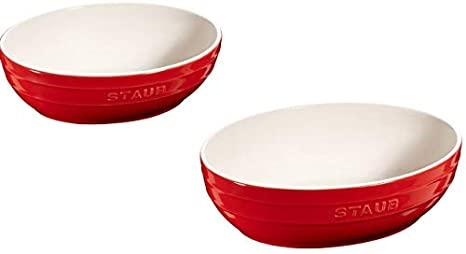 Staub Bowl sett ceramic cherry oval 23 og 27 cm