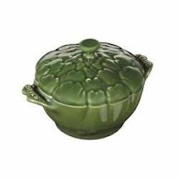 Staub Cocotte artischoke ceramic dark green 045. L