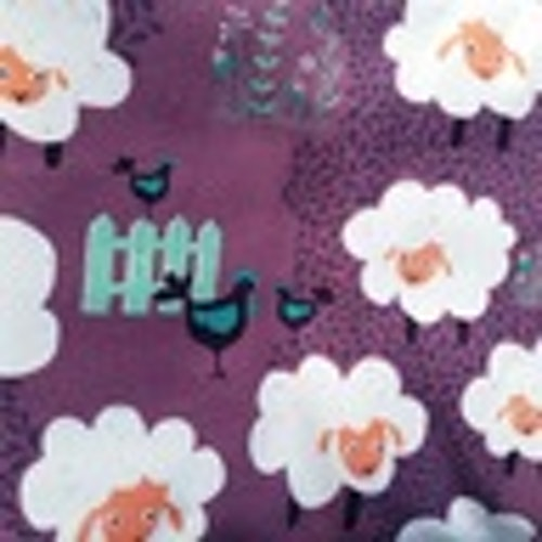 Counting Sheep Purple ( 1 meters bit) Bomulls jersey