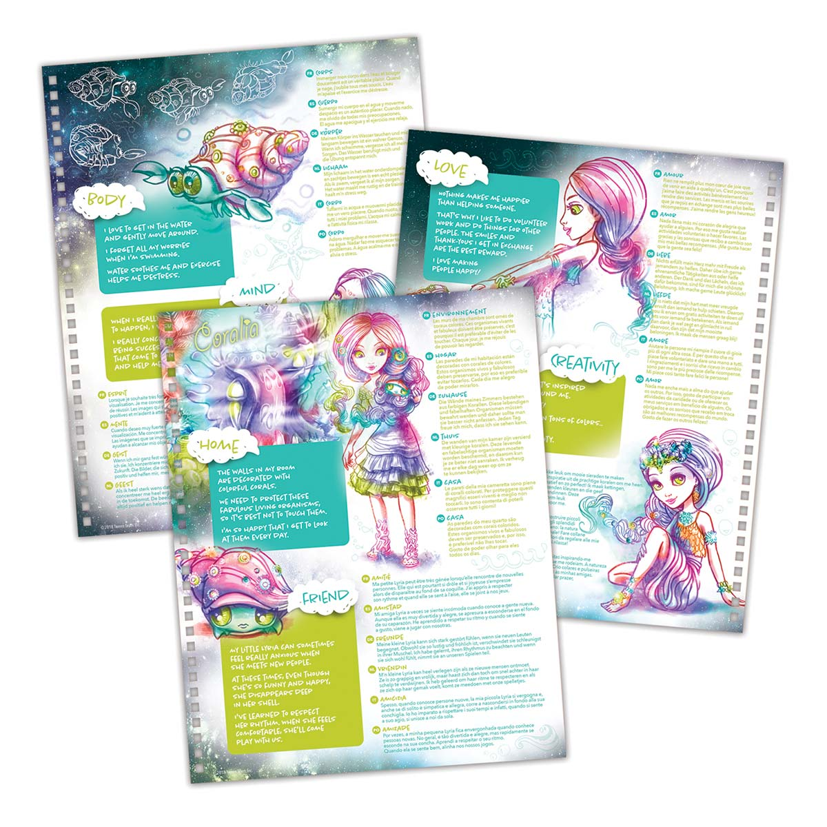 Nebulous Stars, Large Coloring Book, Black Pages Coloring Book