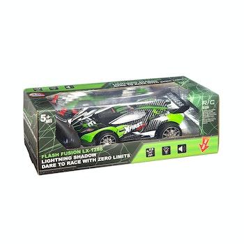 Fusion, R/C 1:16 Sportbil med belysning, grön/blå
