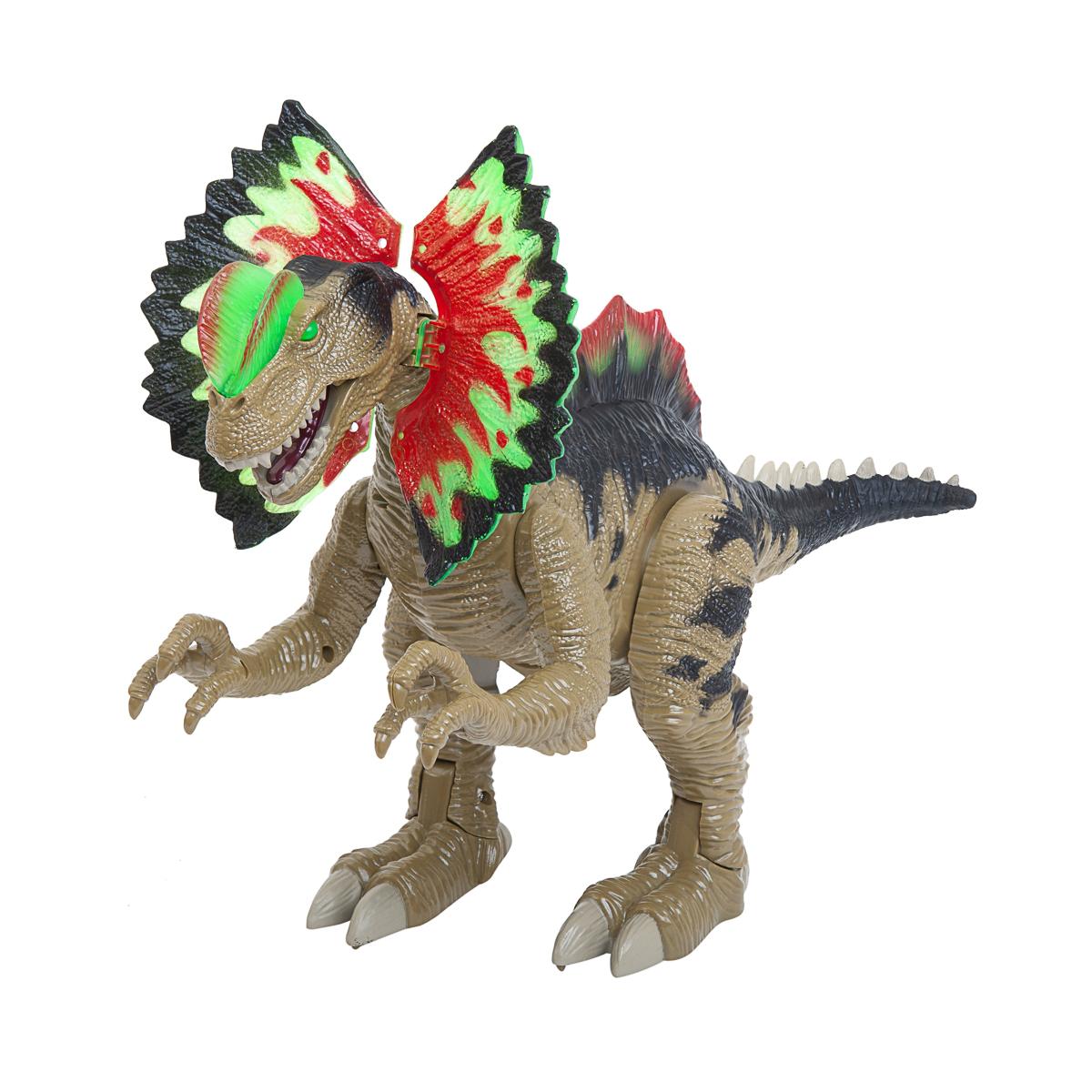 Dino vs World, Köttätande dinosaurie med ljud och ljus, 45 cm
