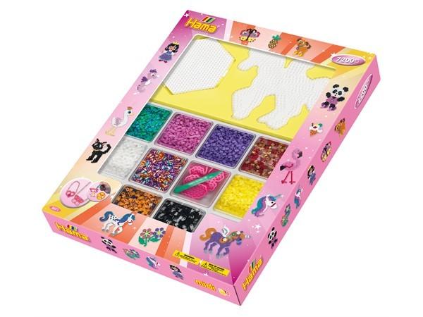 Hama - Midi Giant giftbox 7200 st (rosa box)