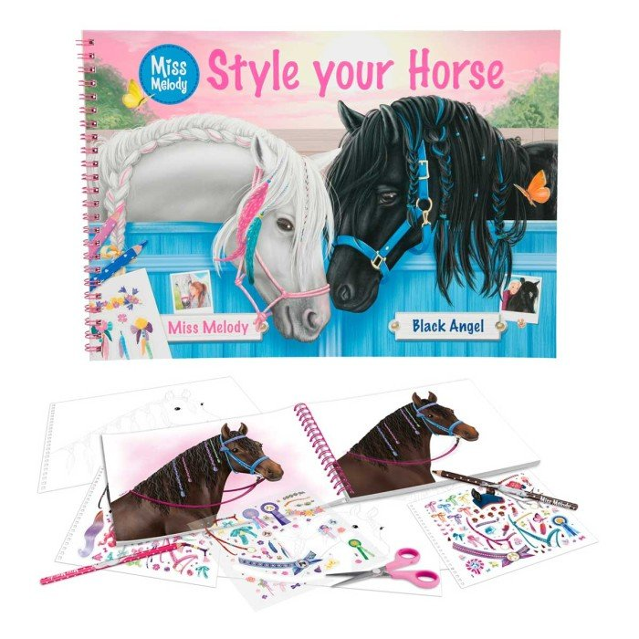 Miss Melody Style your horse (Målarbok)
