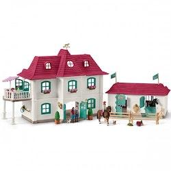 Schleich, Horse Club -  Stort hus & stall