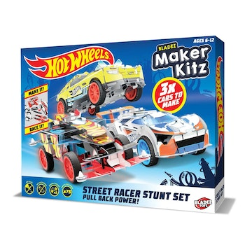 Hot Wheels, Maker kitz 3 pack Pullback bil