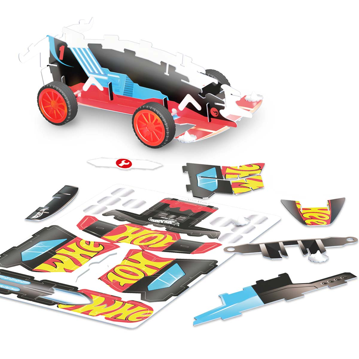 Hot Wheels, Maker kitz 3 pack Pullback bil