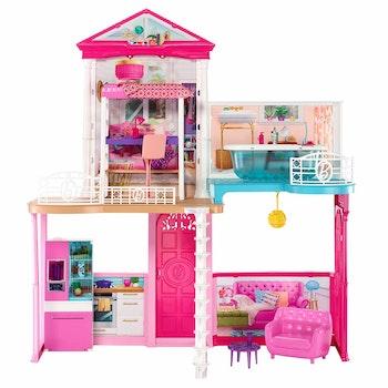 Barbie Mega Hus med möbler och tillbehör