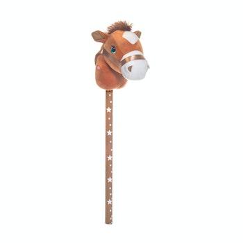 Käpphäst Brun med ljud 70 cm