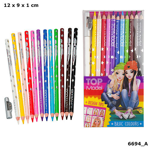 TOPModel, Färgpennor 12-pack Basic