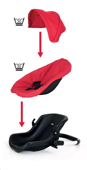 BRIO, Babyskydd Spin, röd