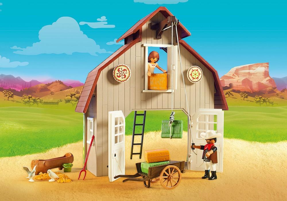 Playmobil Spirit - Ladugård med Lucky Pru och Abigail