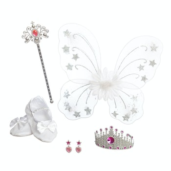 Fairy Princess utklädnad med vingar och tillbehör
