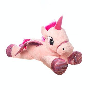 Enhörning med vingar 90 cm, rosa/lila