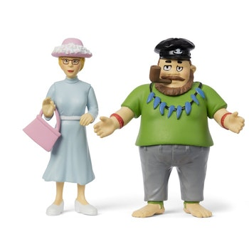 Pippi Långstrump - Efraim och Prussiluskan figurset