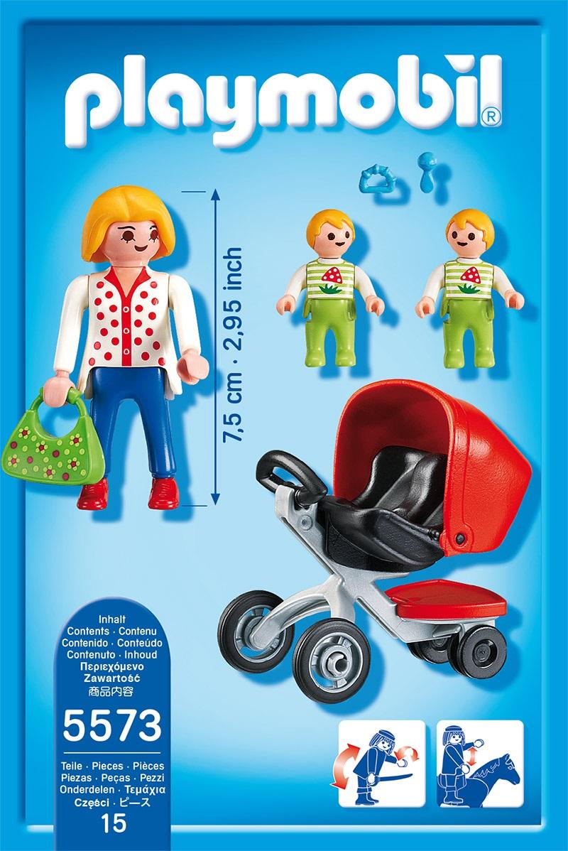 Playmobil City Life 5573, Mamma med tvillingvagn