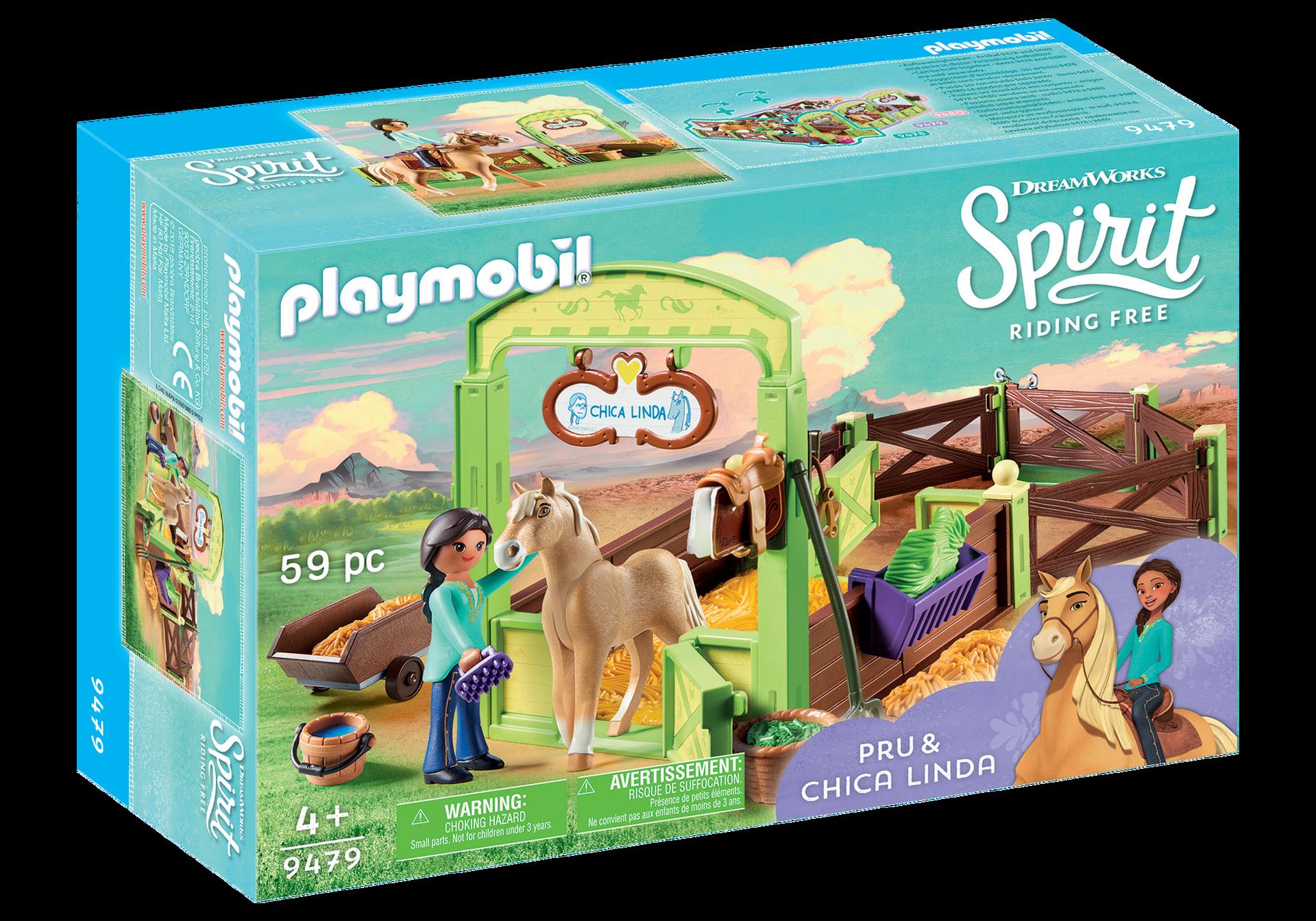 """Playmobil, Spirit - Hästbox """"Pru och Chica Linda"""""""