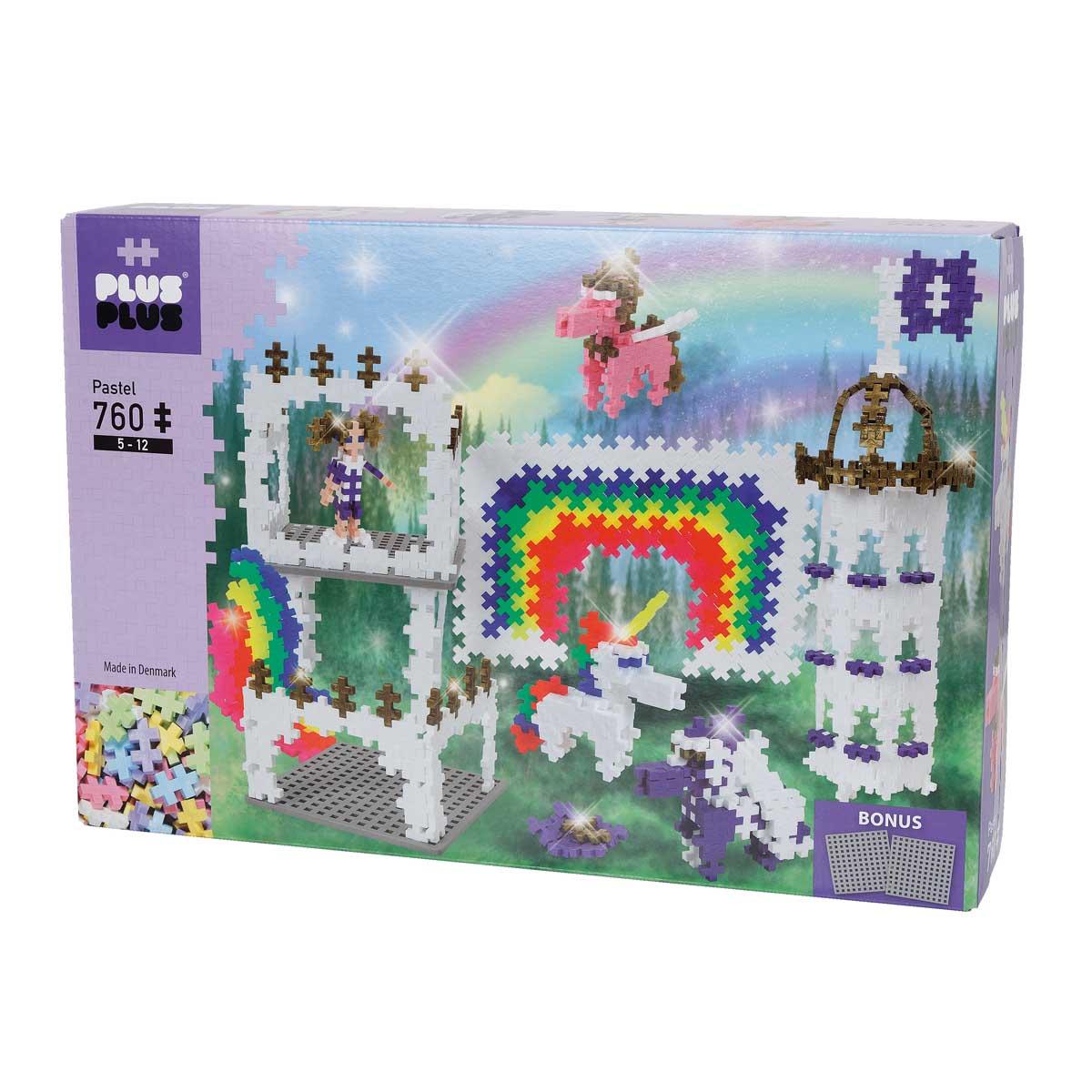 Plus-Plus, Pastel Rainbow Castle, 760 delar