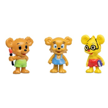 Bamse, Nalle-Maja, Brum & Teddy Figurset