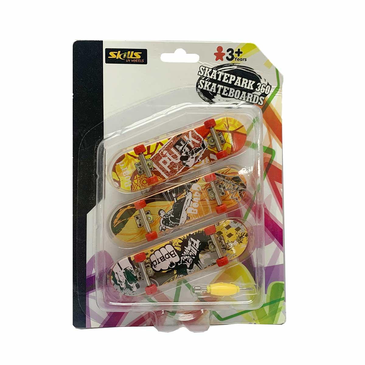 Skills, Finger skateboard 3 pack
