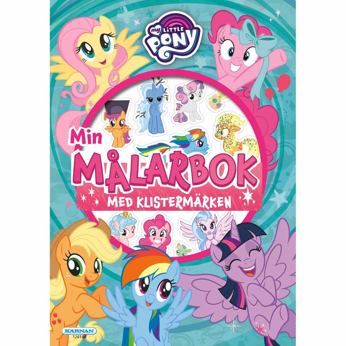 Målarbok My Little Pony Med Klistermärken