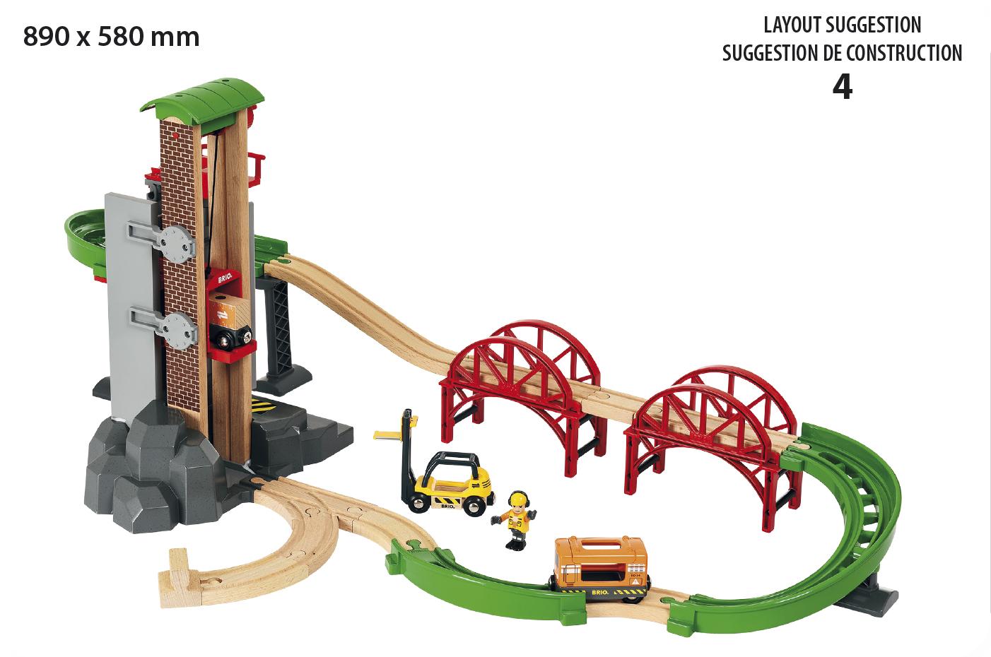 BRIO, Lift & Load 33887 Höglager tågset