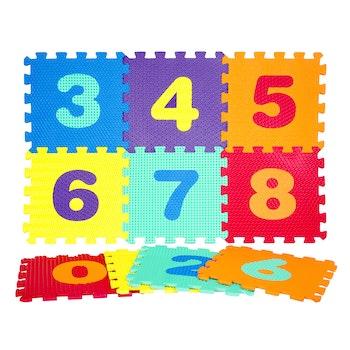 Pusselmatta siffror 0-9