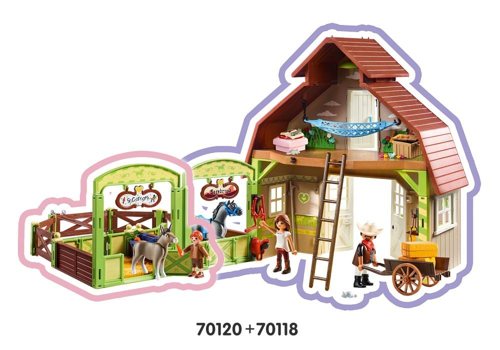 Playmobil Spirit - Snips och Herr Morot med häststall