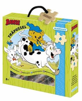 Bamse, Träpussel 6 bitar Bamse & Kossan