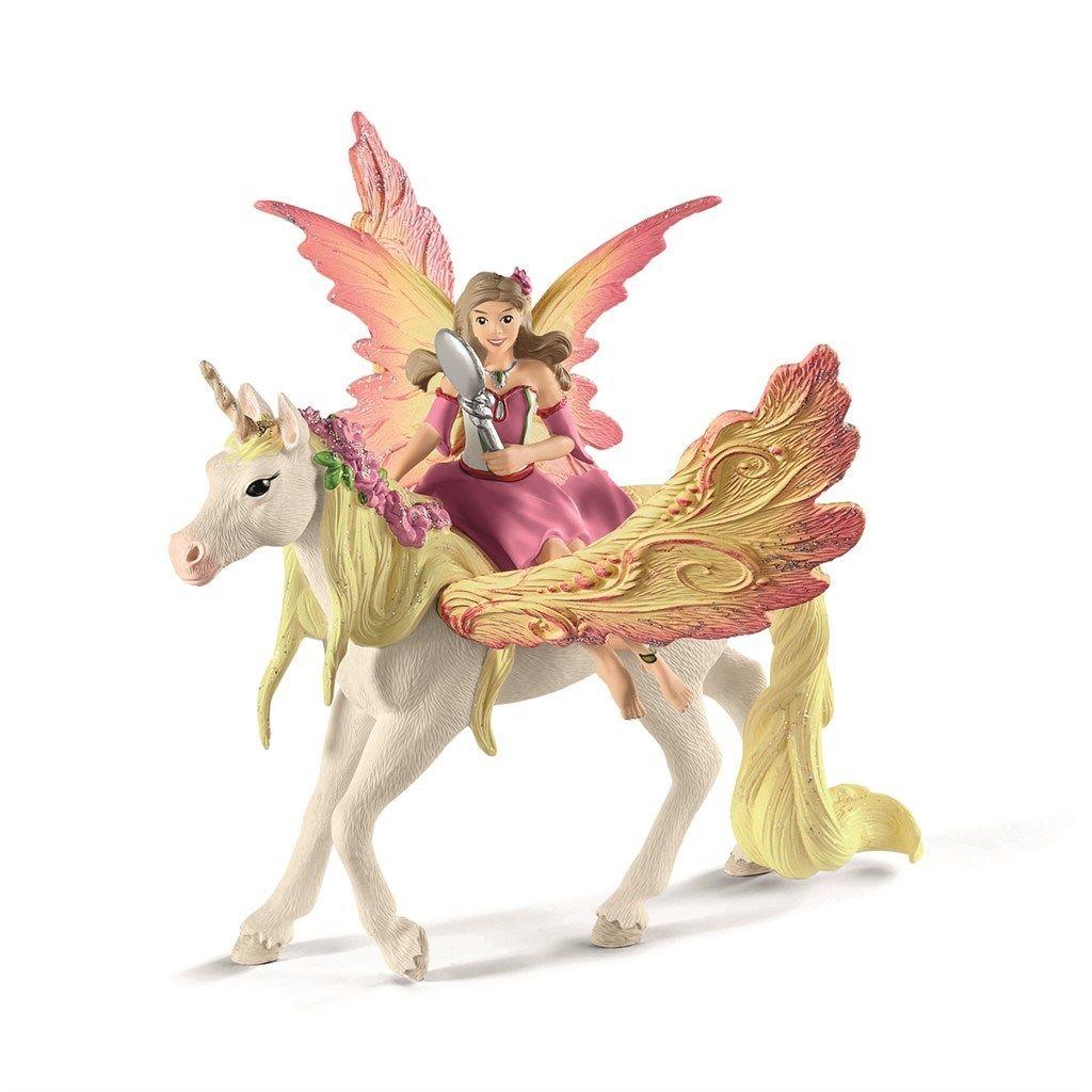 Schleich, Bayala Fairy Feya with Pegasus unicorn