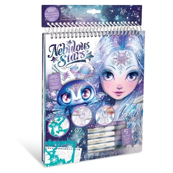 Nebulous Stars, Creative Sketchbook, Geometric Crystal Pages, Iceana