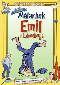 Emil i Lönneberga Målarbok 32 sidor med ramar
