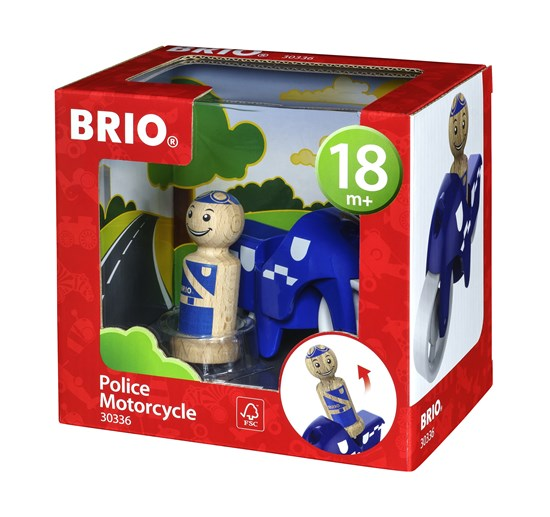 BRIO Polismotorcykel