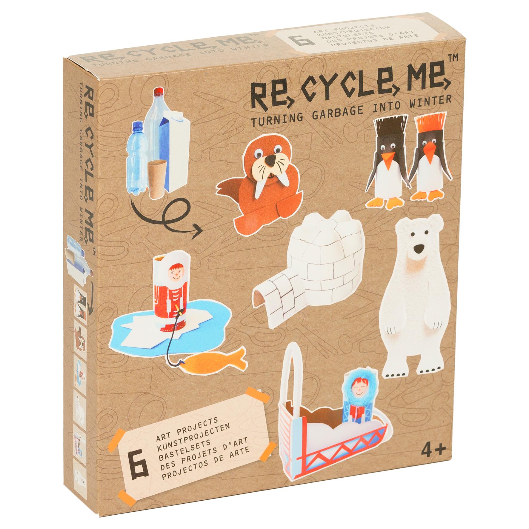 Recycle me Vinter 6 st återvinningspyssel