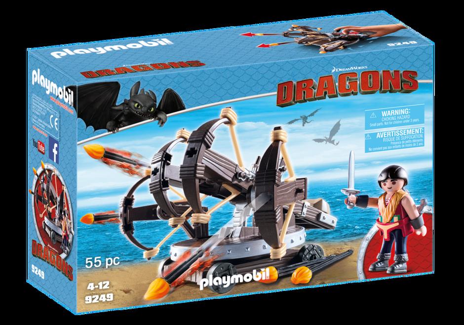 Playmobil Dragons 9249 Eret med ballista med fyra skott