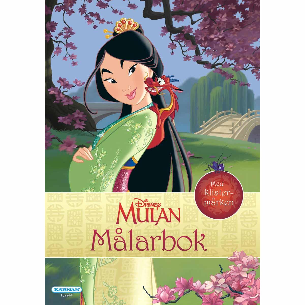 Målarbok Prinsessan Mulan Med Klistermärken