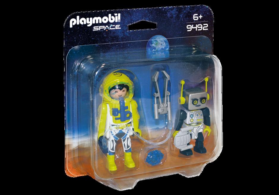 Playmobil Space - Dubbelpaket med astronaut och robot