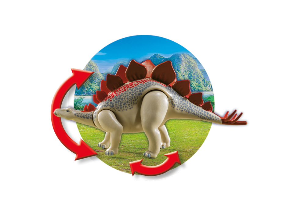 Playmobil Explorers - Forskarmobil med stegosaurus
