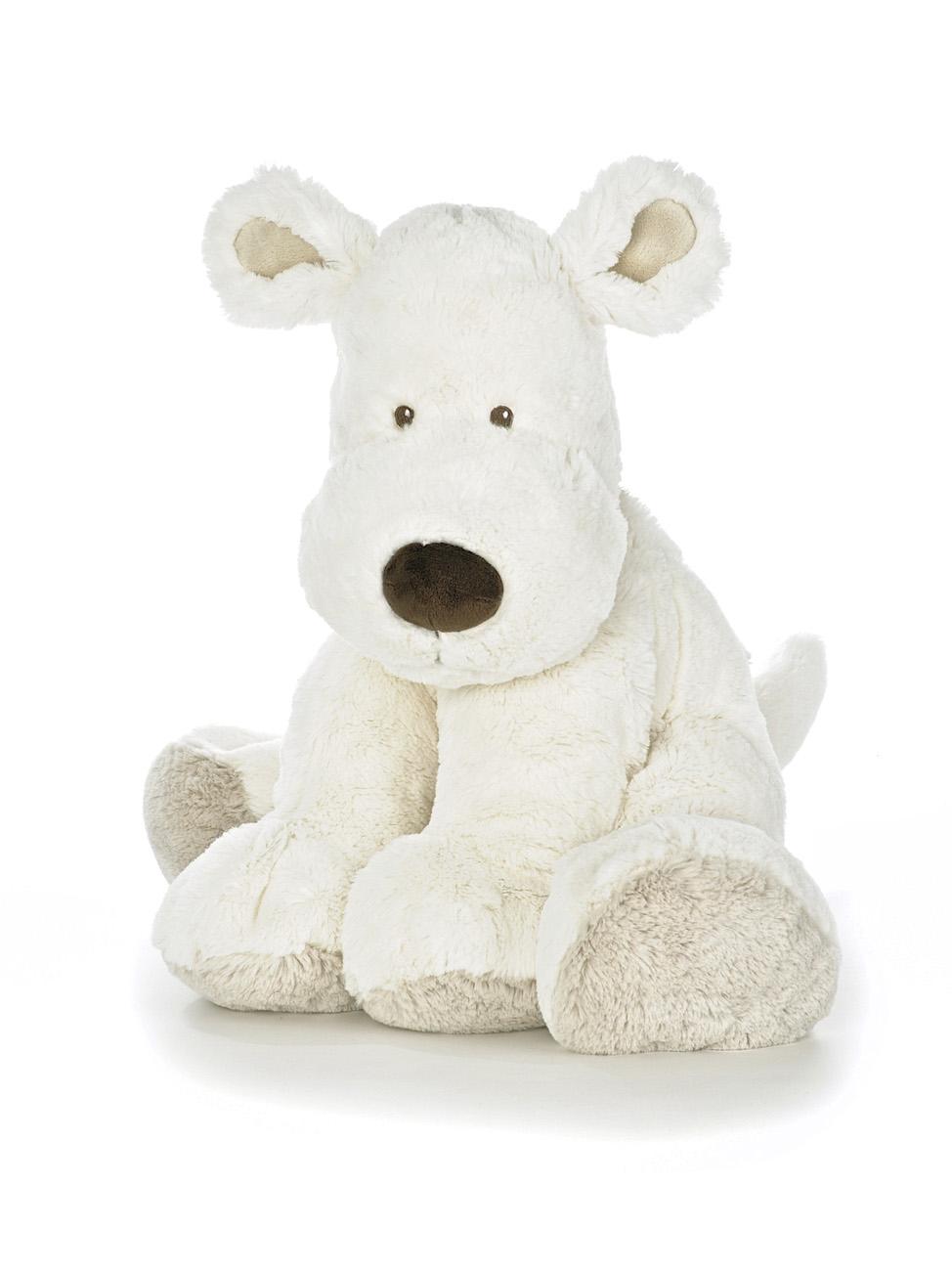Teddykompaniet Teddy Cream Hund XL vit 55cm