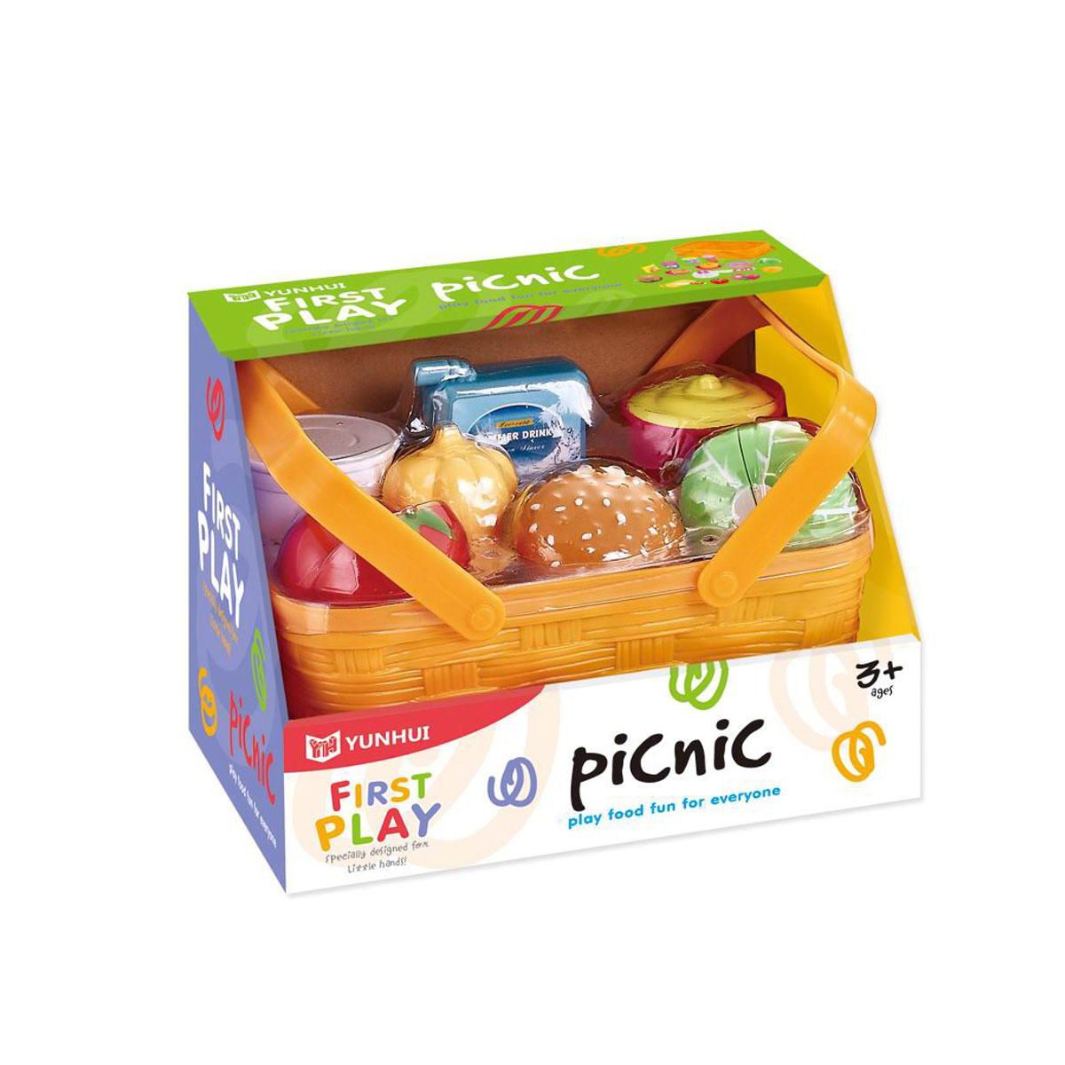 Picknickkorg med mat